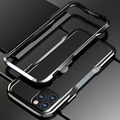 Custodia Lusso Alluminio Laterale Cover per Apple iPhone 11 Pro Max Nero