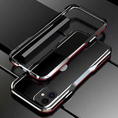 Custodia Lusso Alluminio Laterale Cover per Apple iPhone 11 Rosso e Nero