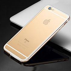 Custodia Lusso Alluminio Laterale Cover per Apple iPhone 6S Oro