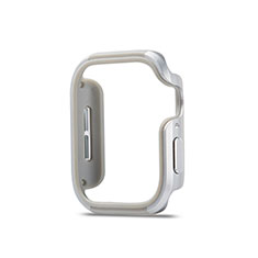 Custodia Lusso Alluminio Laterale Cover per Apple iWatch 5 40mm Argento
