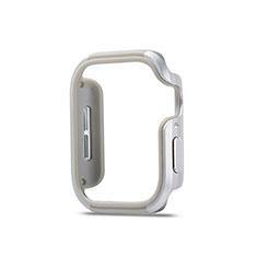 Custodia Lusso Alluminio Laterale Cover per Apple iWatch 5 44mm Argento