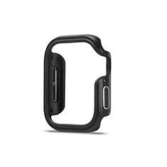 Custodia Lusso Alluminio Laterale Cover per Apple iWatch 5 44mm Nero