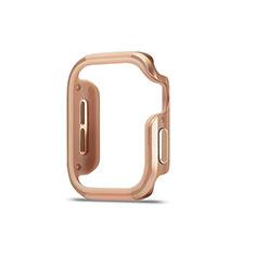 Custodia Lusso Alluminio Laterale Cover per Apple iWatch 5 44mm Oro