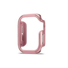 Custodia Lusso Alluminio Laterale Cover per Apple iWatch 5 44mm Oro Rosa