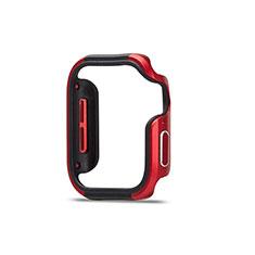 Custodia Lusso Alluminio Laterale Cover per Apple iWatch 5 44mm Rosso e Nero
