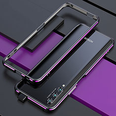 Custodia Lusso Alluminio Laterale Cover per Huawei Honor 9X Pro Viola e Nero
