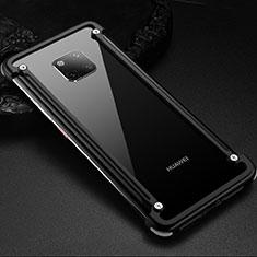 Custodia Lusso Alluminio Laterale Cover per Huawei Mate 20 Pro Nero