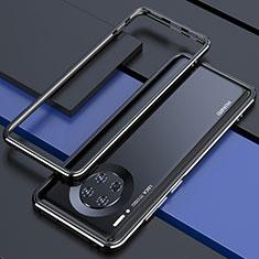 Custodia Lusso Alluminio Laterale Cover per Huawei Mate 30E Pro 5G Nero