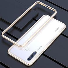 Custodia Lusso Alluminio Laterale Cover per Huawei Nova 4e Oro