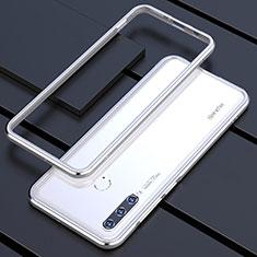 Custodia Lusso Alluminio Laterale Cover per Huawei P30 Lite Argento
