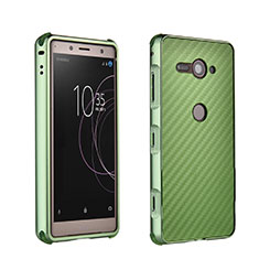 Custodia Lusso Alluminio Laterale Cover per Sony Xperia XZ2 Compact Verde