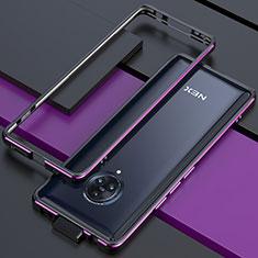 Custodia Lusso Alluminio Laterale Cover per Vivo Nex 3 5G Viola