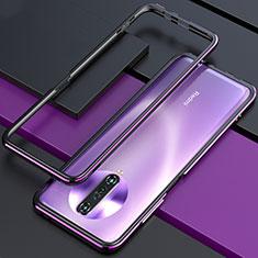 Custodia Lusso Alluminio Laterale Cover per Xiaomi Poco X2 Viola