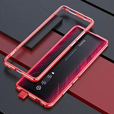 Custodia Lusso Alluminio Laterale Cover per Xiaomi Redmi K20 Pro Rosso