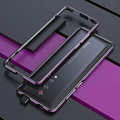 Custodia Lusso Alluminio Laterale Cover per Xiaomi Redmi K20 Viola