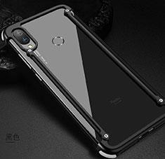 Custodia Lusso Alluminio Laterale Cover per Xiaomi Redmi Note 7 Pro Nero