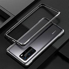 Custodia Lusso Alluminio Laterale Cover T01 per Huawei P40 Pro Nero