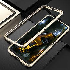 Custodia Lusso Alluminio Laterale Cover T01 per Realme X50 Pro 5G Oro