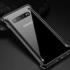 Custodia Lusso Alluminio Laterale Cover T01 per Samsung Galaxy S10 Plus Nero