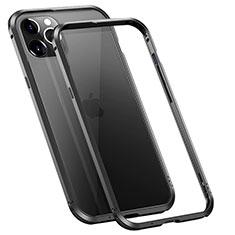 Custodia Lusso Alluminio Laterale Cover T02 per Apple iPhone 12 Pro Max Nero