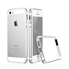 Custodia Lusso Alluminio Laterale per Apple iPhone 5S Argento