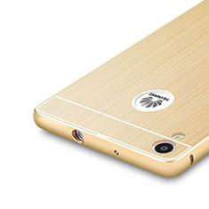 Custodia Lusso Alluminio Laterale per Huawei Ascend P7 Oro