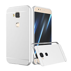 Custodia Lusso Alluminio Laterale per Huawei G7 Plus Argento