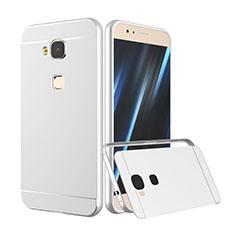 Custodia Lusso Alluminio Laterale per Huawei G8 Argento
