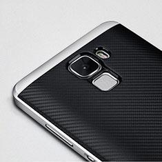 Custodia Lusso Alluminio Laterale per Huawei Honor 7 Nero