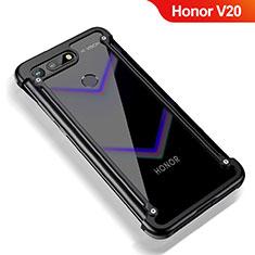 Custodia Lusso Alluminio Laterale per Huawei Honor View 20 Nero