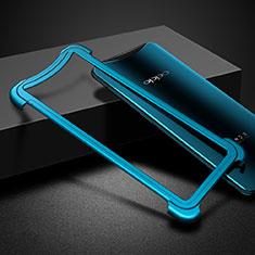 Custodia Lusso Alluminio Laterale per Oppo Find X Super Flash Edition Blu