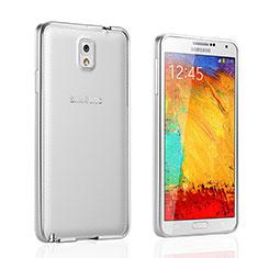Custodia Lusso Alluminio Laterale per Samsung Galaxy Note 3 N9000 Argento