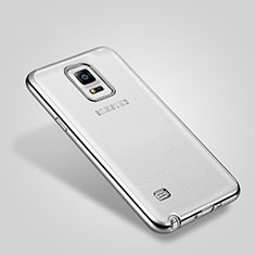 Custodia Lusso Alluminio Laterale per Samsung Galaxy Note 4 Duos N9100 Dual SIM Argento