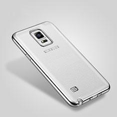 Custodia Lusso Alluminio Laterale per Samsung Galaxy Note 4 SM-N910F Argento