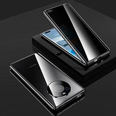 Custodia Lusso Alluminio Laterale Specchio 360 Gradi Cover K01 per Huawei Mate 40 Pro Nero
