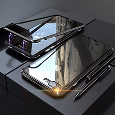 Custodia Lusso Alluminio Laterale Specchio 360 Gradi Cover M01 per Apple iPhone 8 Plus Nero