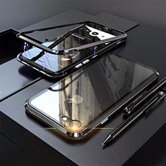 Custodia Lusso Alluminio Laterale Specchio 360 Gradi Cover M01 per Apple iPhone SE (2020) Nero