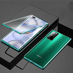 Custodia Lusso Alluminio Laterale Specchio 360 Gradi Cover M01 per Huawei Honor 30 Pro Verde