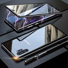 Custodia Lusso Alluminio Laterale Specchio 360 Gradi Cover M01 per Samsung Galaxy Note 10 Plus Nero