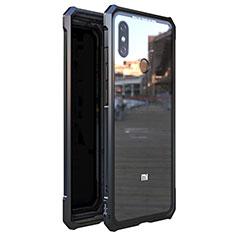 Custodia Lusso Alluminio Laterale Specchio 360 Gradi Cover M01 per Xiaomi Mi 8 Nero