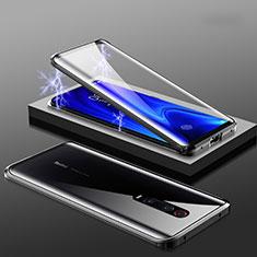 Custodia Lusso Alluminio Laterale Specchio 360 Gradi Cover M01 per Xiaomi Mi 9T Nero
