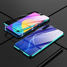 Custodia Lusso Alluminio Laterale Specchio 360 Gradi Cover M01 per Xiaomi Mi A3 Verde