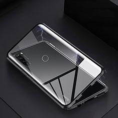 Custodia Lusso Alluminio Laterale Specchio 360 Gradi Cover M01 per Xiaomi Redmi Note 8 Nero