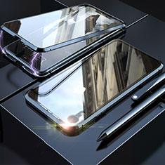 Custodia Lusso Alluminio Laterale Specchio 360 Gradi Cover M02 per Apple iPhone XR Nero