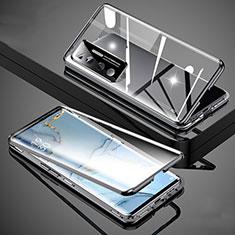 Custodia Lusso Alluminio Laterale Specchio 360 Gradi Cover M02 per Xiaomi Mi 10 Ultra Nero