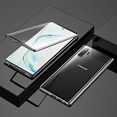 Custodia Lusso Alluminio Laterale Specchio 360 Gradi Cover M03 per Samsung Galaxy Note 10 Plus 5G Nero