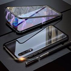 Custodia Lusso Alluminio Laterale Specchio 360 Gradi Cover M03 per Xiaomi Mi A3 Nero