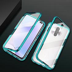 Custodia Lusso Alluminio Laterale Specchio 360 Gradi Cover M03 per Xiaomi Poco X2 Verde