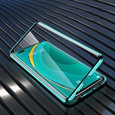 Custodia Lusso Alluminio Laterale Specchio 360 Gradi Cover M04 per Huawei Nova 7 Pro 5G Verde