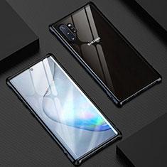 Custodia Lusso Alluminio Laterale Specchio 360 Gradi Cover M04 per Samsung Galaxy Note 10 Plus 5G Nero